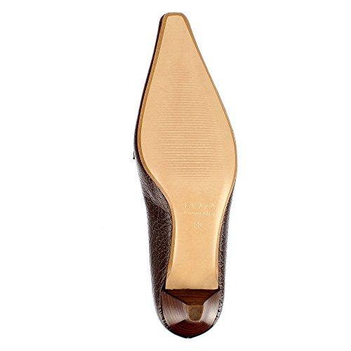 LIA escarpins femme cuir grainé Marron