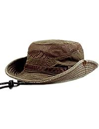 e2852813 KeepSa Cotton Sun Hat UV Protection Summer Hats Beach Hat Safari Boonie Hat  Foldable Fishsing Hat