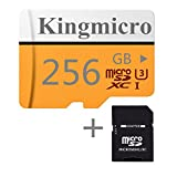 Kingmicro Mikro-SD-Karte High Speed Class 10 mit Standard-SD-Adapter rot 256 GB