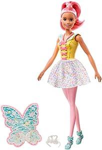 Barbie Dreamtopia - Muñeca Hada rosa con accesorios (Mattel FXT03)