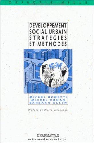 Développement social urbain: Stratégies et méthodes