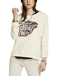 Maison Scotch Women's Relaxed Fit Sweat With Fun Artworks In Various Techniques Sweatshirt