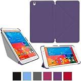 """rooCASE origami Slim Folio Funda con Soporte para tablet Samsung Galaxy Tab Pro 8,4"""", 10,1"""", 12,2, Galaxy Note Pro 12,2"""", Note 10,12014, Galaxy Tab 37,0, 8,0, 10,1"""" Matte Purple Talla:Galaxy Tab Pro 8.4"""