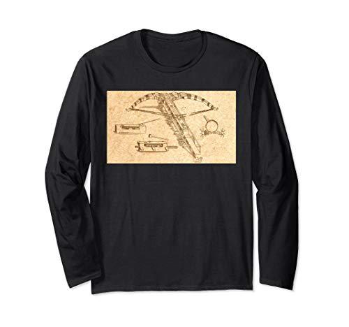 Leonardo Da Vinci Wundervolle Maschine - Armbrust Vintage Langarmshirt