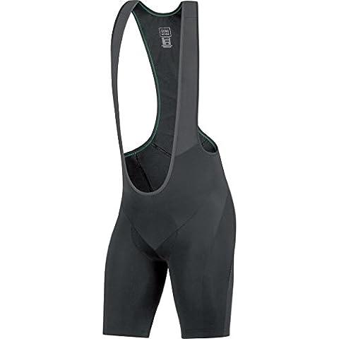 GORE BIKE WEAR, Salopette Ciclismo Uomo corta, Imbottita, GORE Selected Fabrics, ELEMENT short+, Taglia M, Nero, WELETS990004