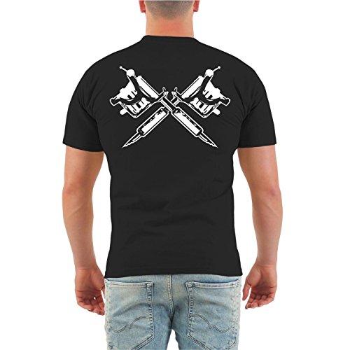 Männer und Herren T-Shirt Ich war schon tätowiert als es COOL war (mit Rückendruck) Größe S - 8XL Körperbetont schwarz