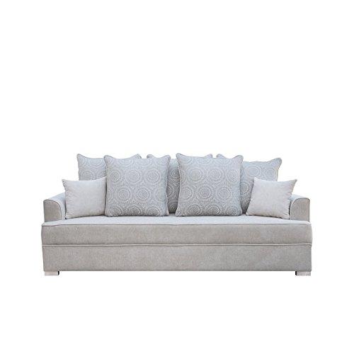 Designer Schlafsofa Belmo - Schlafcouch mit Bettkasten, Bettsofa Polstersofa Couch mit Schlaffunktion, Sofa, Couch vom Hersteller, Couchgarnitur (Alfa 17 + Lily 360)