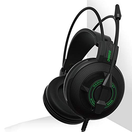KNOSSOS Gaming Headset Headset with Microphone Microphone Computer Headset Unisex Live - Black Green