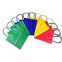 24 Sacchetti regalo con manico, buste regalo in carta Kraft in 4 diversi colori, 24 Sacchetti regalo in un set.