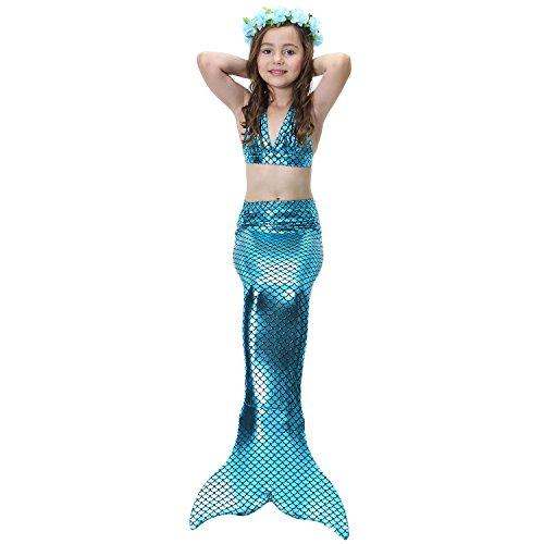 Supmeet™ Badeanzug für Kinder Mädchen Schwanzflosse Mermaid-Schwanz-Prinzessin Swimwear Bikini Set Kostüm für das Schwimmen