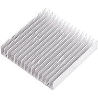 """Radiador de Aluminio Disipadores de Calor las Aletas Transistor de Potencia Dispositivo Semiconductor con 16 Disipadores de Calor 3,93 """"(L) x 3,93"""" (W) x 0,7 """"(H) / 100 mm (L) x 100 mm (W) x 18 mm ( H) 1pc"""