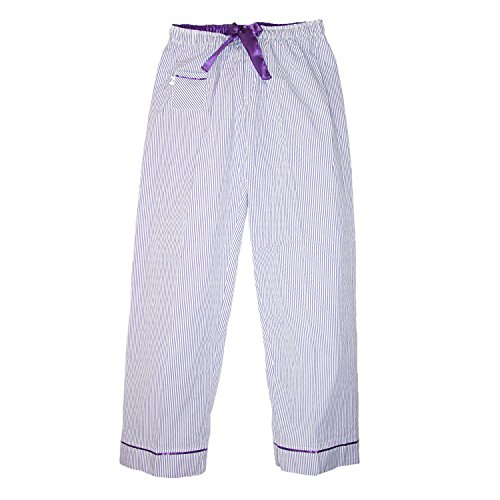 - 41UzI4oTPRL - Boxercraft Women's Seersucker Pajama Pants with Satin Trim