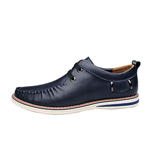 Mode Hommes Mocassins en cuir Casual,marron,44,36_36
