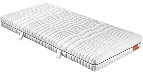 sleepling 190151 Matratze Comfort 120 Kaltschaum Härtegrad 2 140 x 200 cm, weiß