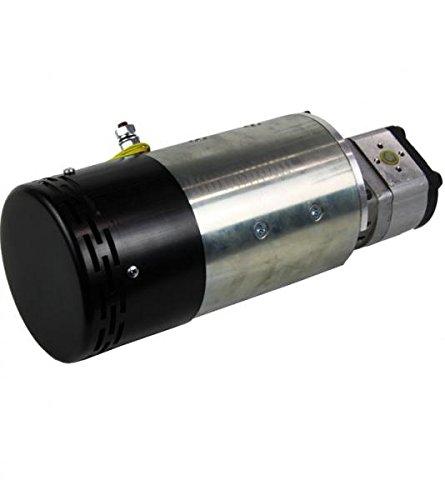 DC Motor-Pumpeneinheit, Hydraulikpumpe, Hydraulikaggregat, 3kW, 24 Volt, 2000 U/min, 6,3 cm3/U Zahnradpumpe, 12.6 l/min, Gabelstapler - 2000 Motor / Min-dc U