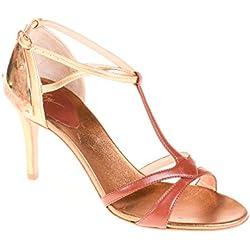 Zanotti Damen Pumps Leder Gold, Schuhgröße:36.5