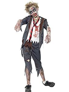 Zombie Halloween Costumes For Toddlers.Boys Childrens Zombie Schoolboy Halloween Fancy Dress Costume 10 12 Years