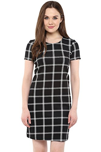 Annabelle by Pantaloons Women's Tunic Dress ( 205000005623528, Black, Medium)