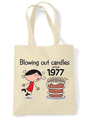 Blowing Out Candles Since 1977 40th Birthday Tote / Shoulder Bag