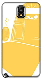 The Racoon Grip printed designer hard back mobile phone case cover for Samsung Galaxy Note 3. (Sunshine)