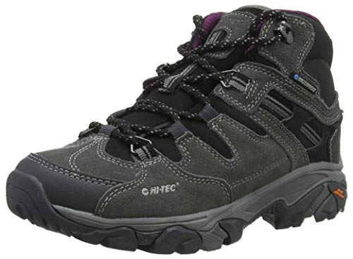 Hi-Tec Damen Ravus Adventure Mid Waterproof Trekking- & Wanderstiefel Grau (Charcoal/Cool Grey/Amaranth 52) 38 EU