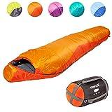 Saco de dormir KeenFlex tipo momia para 3-4 estaciones extra cálido y ligero, compacto, resistente al agua y...