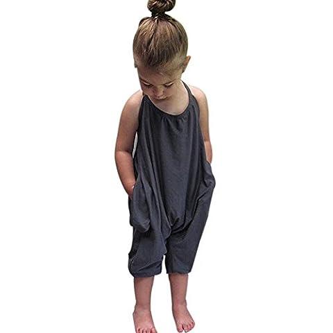OverDose,Bambin Enfant BéBé Filles Les Bretelles Barboteuse Polka Dot Combinaisons PièCe Un Pantalon VêTements (6T,