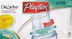Playtex - Sacs jetables pré-stérilisés Drop-Ins pour biberons - 230-295 ml - 50/paquet (4 paquets)