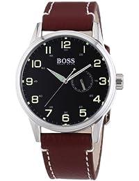 Hugo Boss Herren-Armbanduhr XL Analog Quarz Leder 1512723