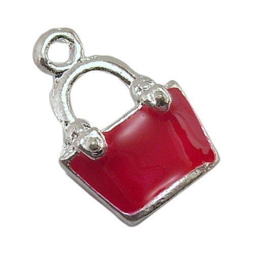pacco-5-x-rosso-lega-dello-smalto-19mm-ciondoli-pendente-borsetta