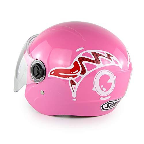 YOCC OutdoorMotorradhelm für Kids/Jugend 6 Jahre Alter Leichtrad-Helm Cartoon Shape Multi-Sport Safety Sporting Goods Girls Boys