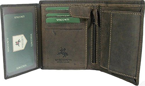 New gents Visconti brown Hunter leather wallet money bag Style 709