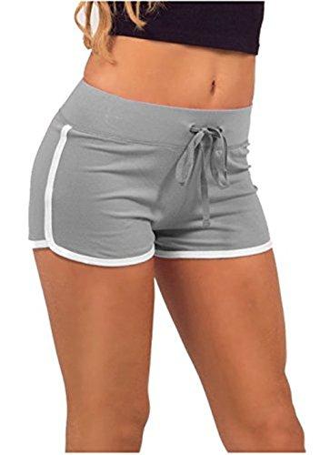 Hippolo pantaloni estivi pantaloni corti sport palestra allenamento yoga shorts nero Black Green M Gray