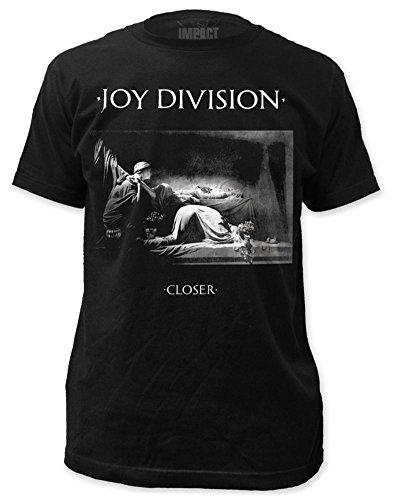 Impact Camisa de Algodón de la Impresión Delgada División de la Alegría Más Cerca para Hombre Grande Negro
