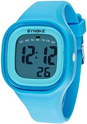 Malloom® 2015 moda natación reloj deportivo silicona digital LED impermeable unisexo reloj Azul