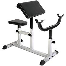 Physionics HNTLB09- Banco de biceps curl - con apoyabrazos y asiento regulables