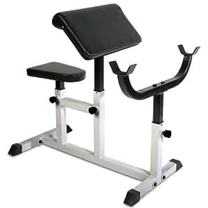 Physionics hntlb09- Banque de biceps curl–avec accoudoirs et siège réglables