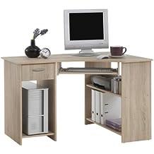 FMD Felix 1 - Mesa de ordenador con un cajón, tres compartimentos y teclado extracto