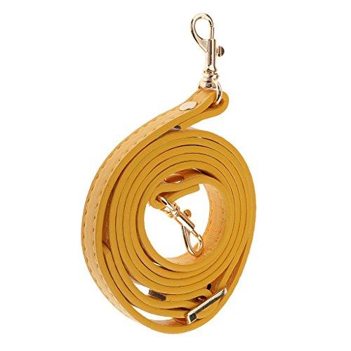Leder Trageriemen Taschengurt Schultergurt Schulterriemen für Damen Schultertasche Umhängetaschen Handtaschen Tasche - Gelb