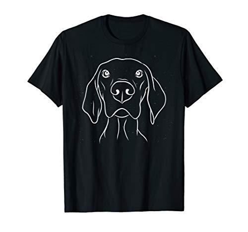 Weimaraner Jagdhund Hunde Kopf Figur Jagd Zubehör T-Shirt - Hund Puppy T-shirts T-shirts