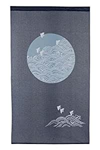 Japan Noren Curtain Tapestry Chidori with Waves Design by Narumi