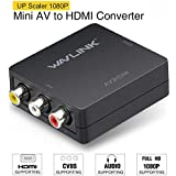 RCA to HDMI Converter,Wavlink 1080p 3RCA to HDMI CVBS AV Composite Video Audio Adapter with USB Charge Cable Support 1080P for PC Laptop Mini Xbox PS2 PS3 TV STB VHS VCR Camera DVD
