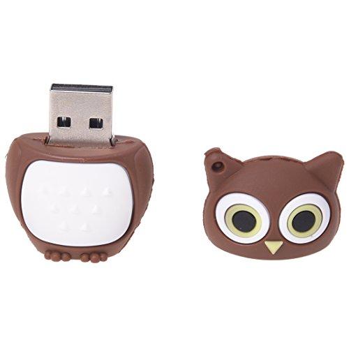 SODIAL (R) de 8 GB USB 2.0 Memoria palo de pluma conducir Flash forma de la llave buho cafe