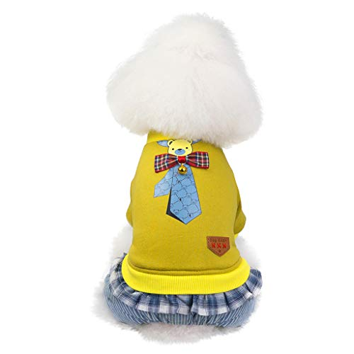 Pudel Blauer Kostüm Rock - Cuteelf Funny Hund Katze Jeans Uniform Haustier Kleidung Kostüm Kleid Cosplay für Party canival