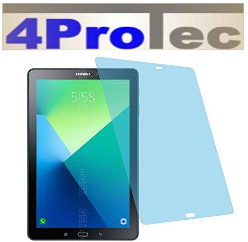 4ProTec 2 Stück GEHÄRTETE ANTIREFLEX Displayschutzfolie für Samsung Galaxy Tab A 2016 SM-P585N (mit Telefonfunktion) Bildschirmschutzfolie Schutzhülle Displayschutz Displayfolie Folie