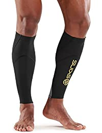 Skins Essentials Calf mallas MX, Black/Yellow, S, ES00040879052S