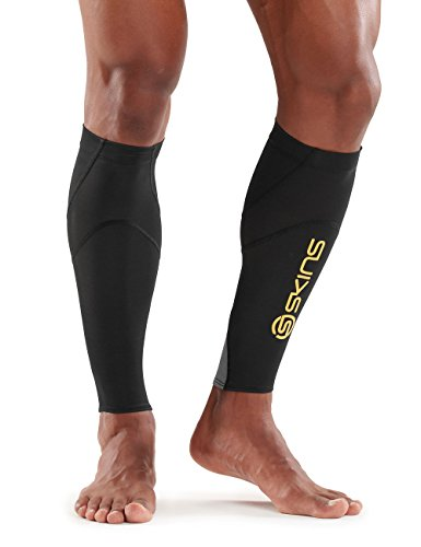 Skins Calf Tights Essentials mx, Black/Yellow, M, ES00040879052