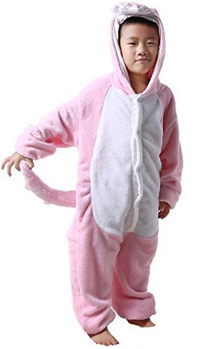 Honeystore Kinder's Unisex Rosa Dinosaurier Flannel Pyjama Alltagskleidung Jumpsuit Kostüm 105 Kleinkind Bett Tinkerbell