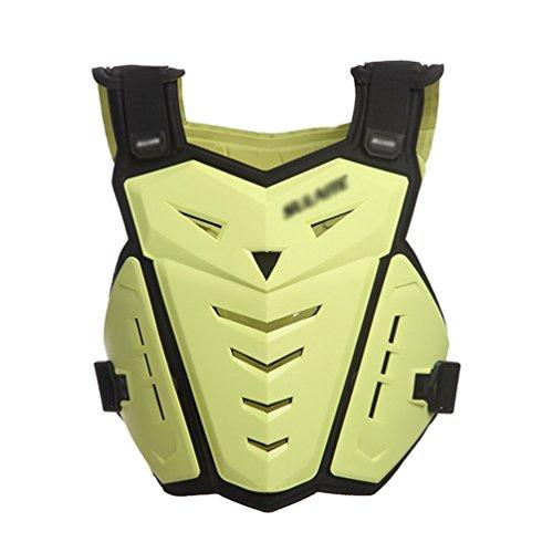 Dexinx Motorrad Radfahren Reiten Unterwäsche Rüstung Weste Starke Brust Rückenprotektor Professionelle Street Motocross Guard Protection Gelb -