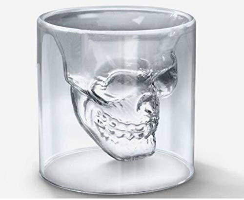 Glaseres Doppelwandige Glass Double Cup Skull Cup Heat Resistant Glass Individual Transparent Glass 250Ml